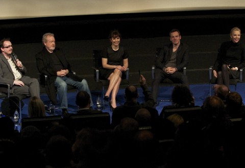 Prometheus Q &amp; A with Ridley Scott, Michael Fassbender, Charlize Theron and Noomi Rapace